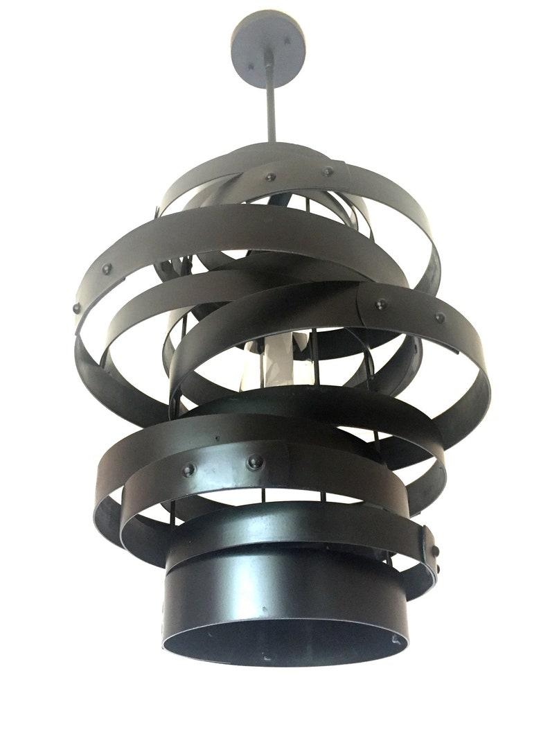 Vortex repurposed wine barrel steel rings metal hoops image 0