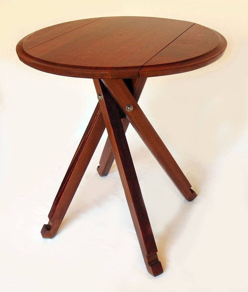 The Windmill Four legs Drop Leaf Bistro Table Recycled Oak image 0