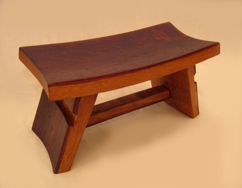 The Temple charming little zen stool recycled wine barrel image 0