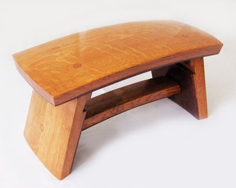 The Dome, recycled wine barrel staves little stool