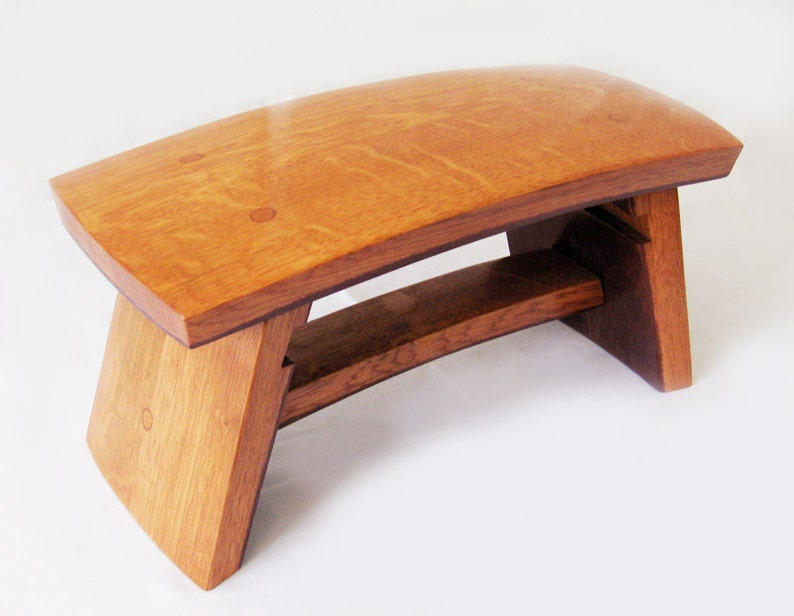 The Dome recycled wine barrel staves little stool image 0