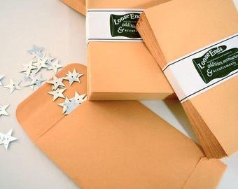 25 Mini ENVELOPES Manila Kraft Paper DIY 3 Inch By 45 Organize Create Craft Tiny Envelope 4 1 2