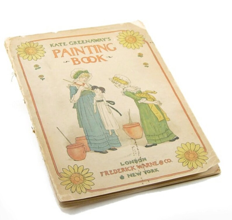 KATE GREENAWAY Painting Book Vintage 1890s antique book   Etsy