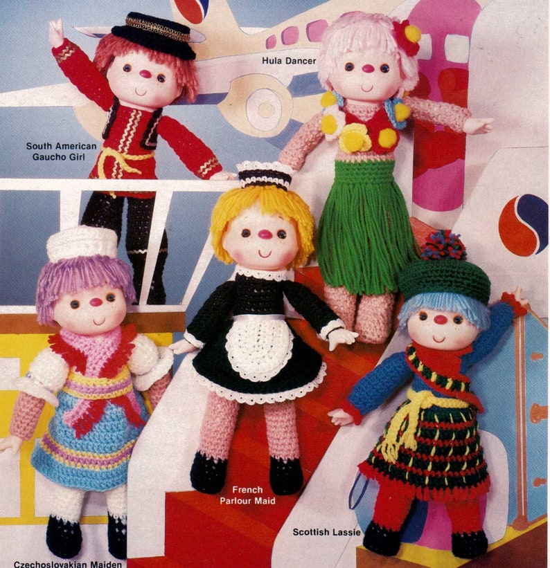 Oh So Cute Dolls Clothes Crochet Pattern Book AA 871048 CLEARANCE   821x794