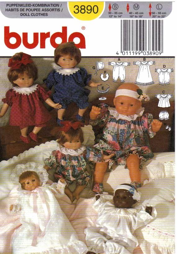 Puppe Kleider und Hosen Nähen Schnittmuster Burda 3890 | Etsy