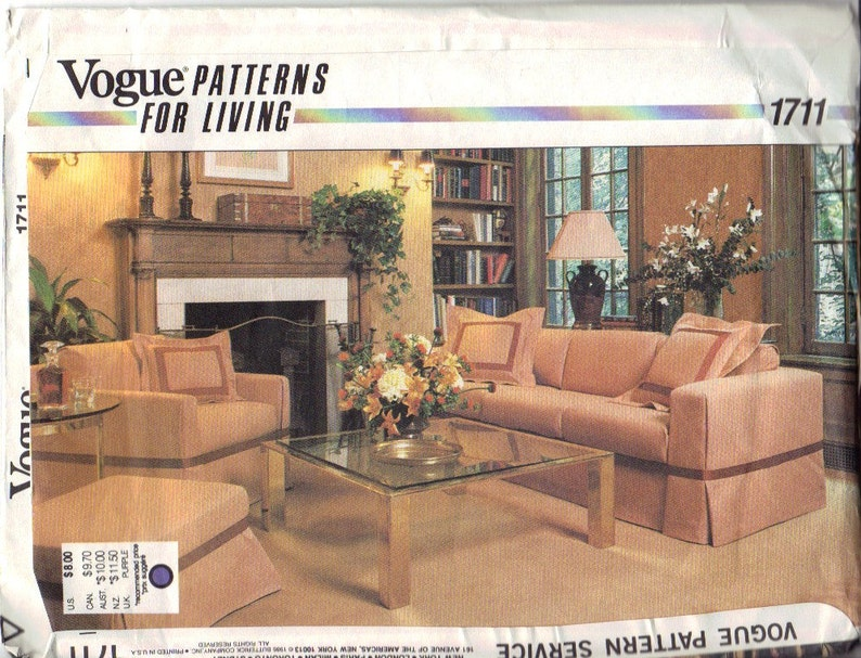 Brilliant Sofa Covers And Chair Covers Pattern Vogue 1711 Pdpeps Interior Chair Design Pdpepsorg