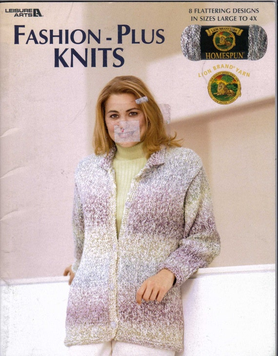 Fashion Plus Size Knits Pattern Book In Sizes Large To 4x Etsy