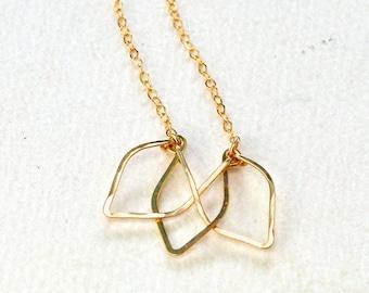Lotus Necklace - lotus flower necklace, lotus blossom necklace, yoga jewelry, handmade lotus pendant necklace, modern minimalist lotus