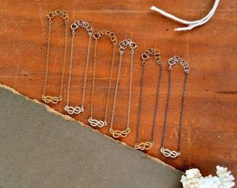 Sailor's Knot Bracelet - gold knot bracelet, silver knot bracelet, nautical rope knot bracelet, infinity knot, nautical wedding jewelry