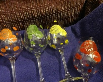 Girls night out glasses Customize in your favorite colors