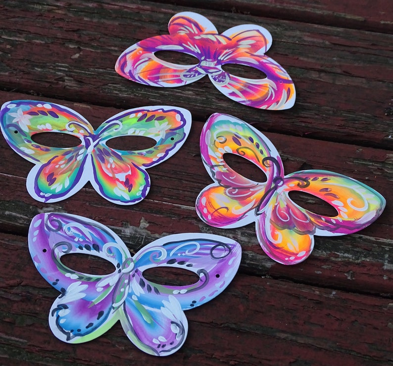 Butterfly Party Mask Party Pack set of 4 butterfly mask favors butterfly party favor halloween mask