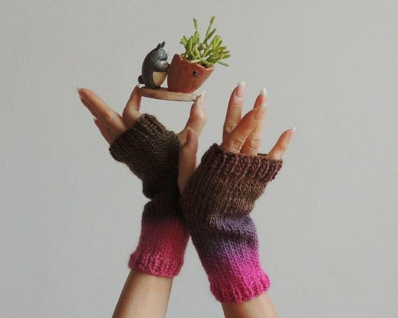 cc75c6e64 Hand Knit Fingerless Gloves Hand Knit Gloves Hand Knit | Etsy