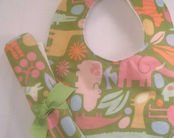 bib and burp cloth set, Bib and Burp Cloth, Bib and Burp Cloth,  Baby Shower Gift, Baby Bib, Baby Burp Cloth, Burp Cloth, Baby Bib Zoo