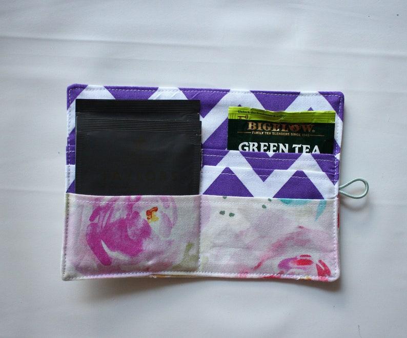 Tea bag holder Tea Bag Wallet Travel Teabags holder tea image 0