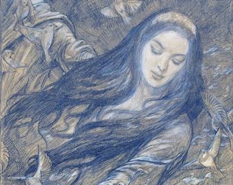 Nightingales, signed giclee print