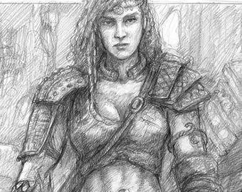 BARBARIAN, Original Drawing