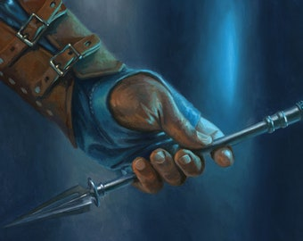 Sorcerer's Wand, signed giclee print