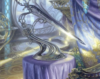 Sword of Light and Shadow, signed giclee print