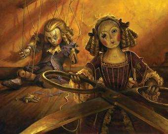 Creepy Doll, signed giclee print