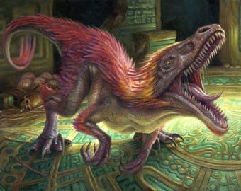 Relentless Raptor, signed giclee print