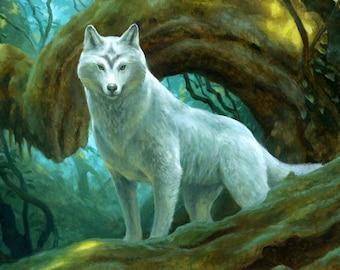 Sacred Wolf, signed giclee print