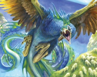 Fleetfeather Cockatrice, signed giclee print