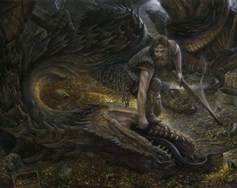 The Teeth of the Dragon, signed giclee print