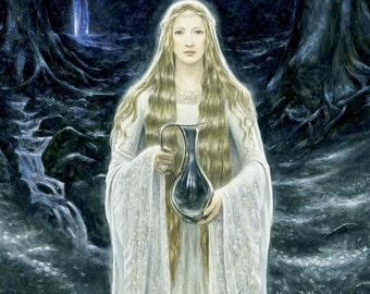 The Lady of the Mirror, signed giclee print