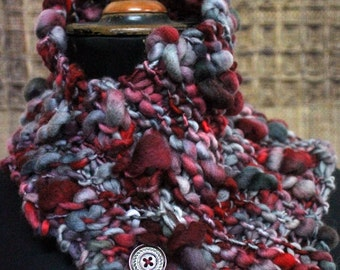 Handspun, handknit neckwarmer