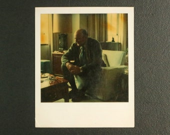 Person on Couch - original vintage Polaroid photography