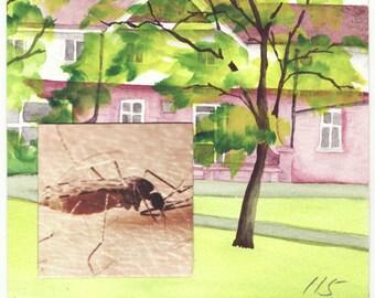 bite (original painting collage)