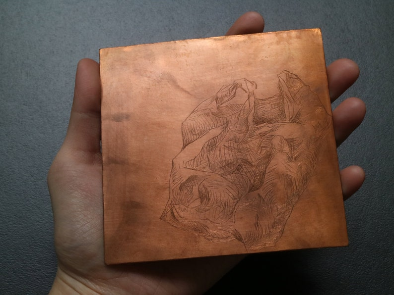 original intaglio plate Plastic Bag drawing plate only