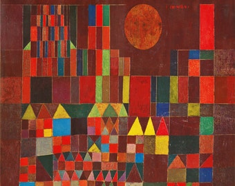 Burg und Sonne by Paul Klee on mono deluxe Needlepoint Canvas