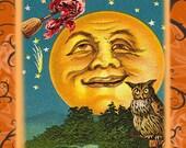 Vintage Halloween Moon mono deluxe Needlepoint Canvas