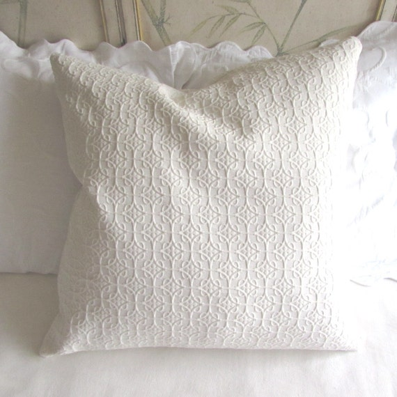IVORY Matelasse Pillow Cover 40x40 40x40 40x40 40x40 Etsy Mesmerizing Etsy Pillow Covers 20x20