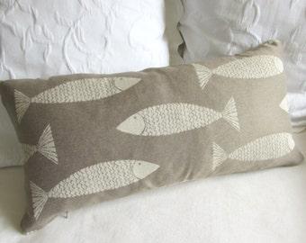 FISH pillow 12X26 decorative/lumbar/throw insert included