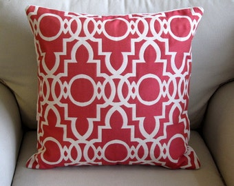 BERMUDA ROUGE  decorative designer pillow cover