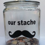 our stache  (mustache) vinyl decal FREE SHIP in basic black