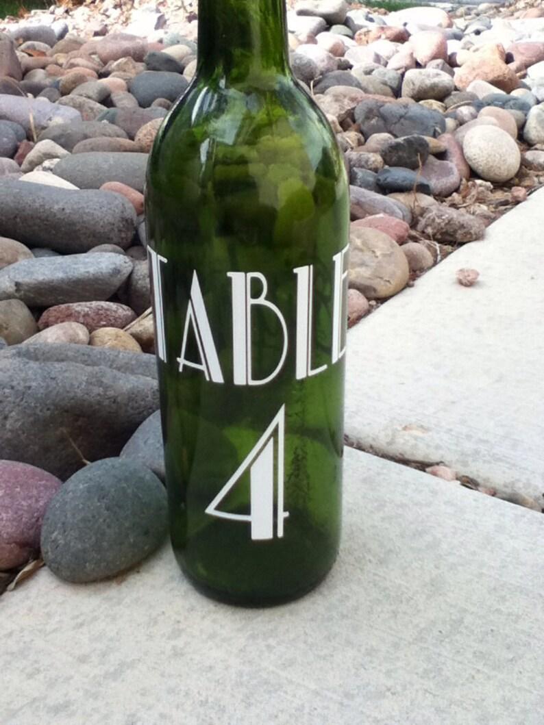 Table Vinyl Numbers Wedding Table numbers image 0
