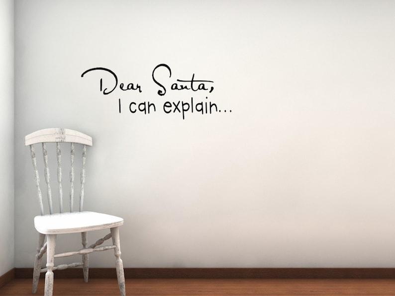 Dear Santa vinyl wall decal image 0
