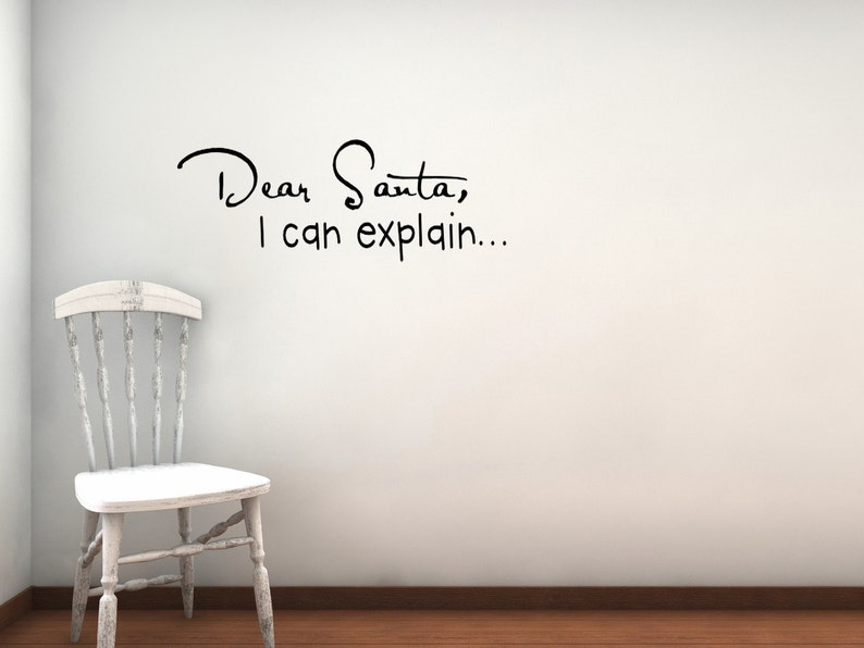 Dear Santa vinyl wall decal image 0