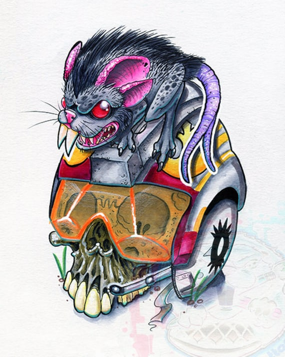 Womp Rats Get Fat Tattoo Star Wars Rebel Fighter Helmet Giclee Etsy It was curled up in a shadowy corner, near the door, laying in a puddle of its own blood. etsy