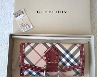 32d4b038951b Burberry Nova Check Wallet - NEVER USED!