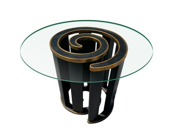 Mid Century Modern Spiral Dining Table