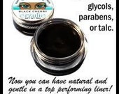 Natural and Organic Mineral Gel Eyeliner pot In INTENSE BLACK Unscented Non-Toxic Makeup organicmakeup