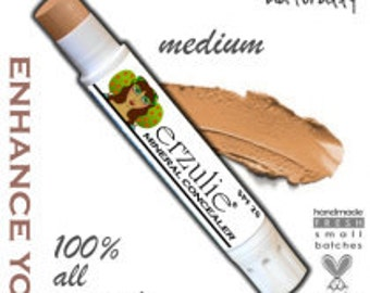 Organic Concealer Stick in MEDIUM | Natural Mineral Cream concealer | Cruelty Free Makeup | Acne Safe Concealer | Non Toxic Made in USA