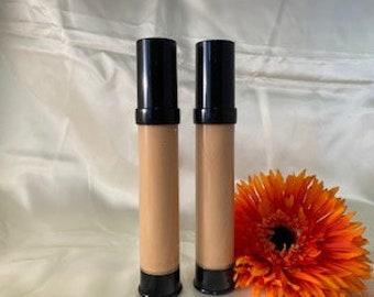 Natural and Organic Liquid Mineral Foundation In Warm Medium Light Hyaluronic Acid Non-Comedogenic  Vegan Makeup