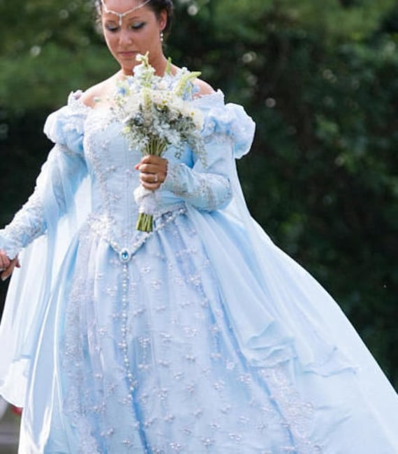 Princess Wedding Gown Or Costume Deluxe Elizabethan Fantasy Etsy