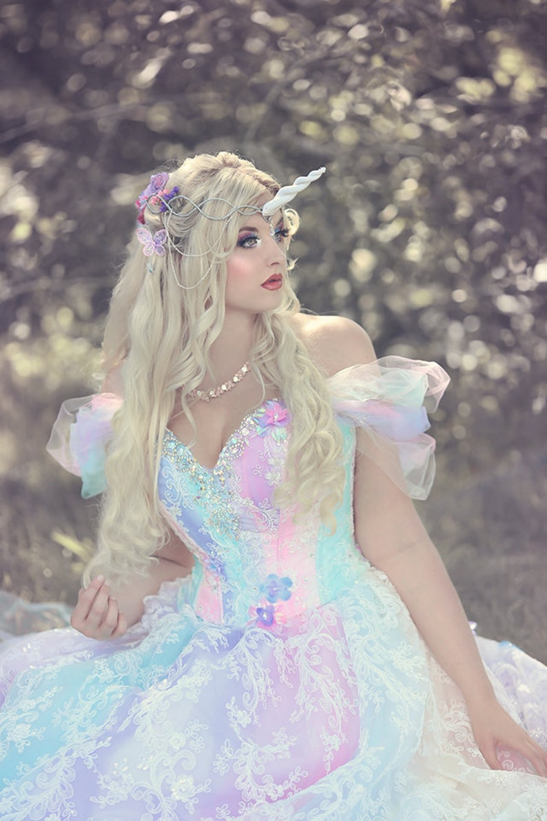 In Stock Small Magical Fairy Unicorn Princess Wedding Gown Etsy