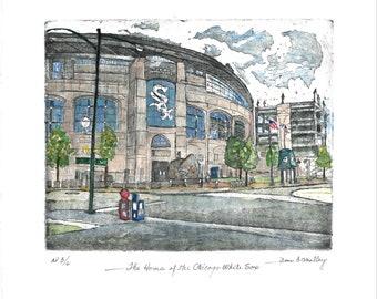 Chicago White Sox Park - Original Etching